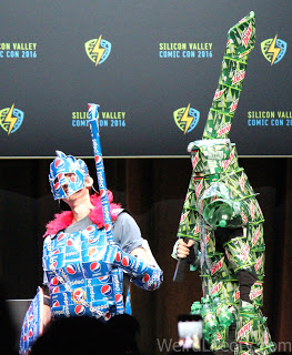 Pepsi and Mountain Dew suits of armor cosplay