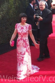 Constance Zimmer on the red carpet at the Emmys 2016