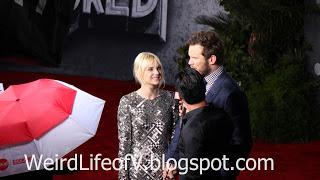 Anna Faris and Chris Pratt interviewed by Mario Lopez - Jurassic World Premiere