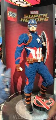 Life size Captain America Lego statue