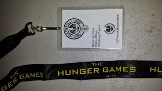Hunger Games Lanyards and DIY name badges