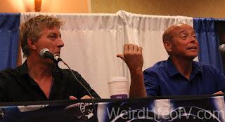 William Zabka and Rob Garrison at the Karate Kid panel during SuperToyCon 2016