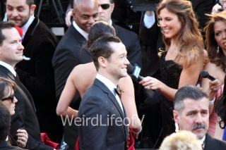 Joseph Gordon-Levitt on the red carpet for the 2013 Oscars
