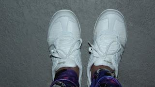 My brand new Skechers Breathe Easy Jackpot sneakers in white