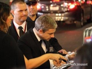 Martin Freeman signing autographs