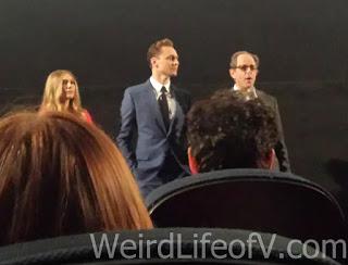 Elizabeth Olsen, Tom Hiddleston, and Marc Abraham before the screening