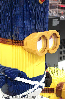 Minion Lego statue at the Lego booth