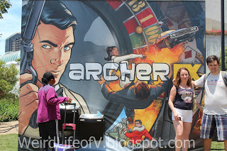 Archer themed drinking fountain