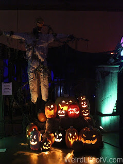 Some Jack o lanterns on display in the Hall of Shadows