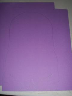 trace minion shape onto cardstock