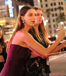 Angela Sarafyan signing autographs at the Westworld premiere in Hollywood
