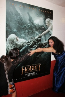 Having fun recreating one of The Hobbit posters on the walls