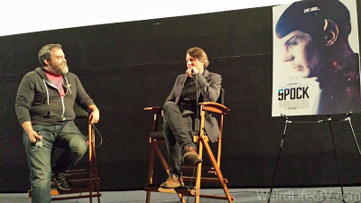 Adam Nimoy doing a post-screening Q and A about For the Love of Spock