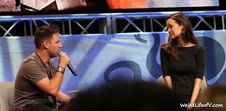 Moderator Bernie Bregman and Summer Glau