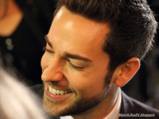 Oh that smile!! Zachary Levi signing autographs