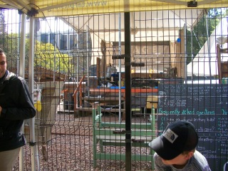 Current processing of fossils found during the excavation for underground parking at LACMA next to the La Brea Tar Pits.