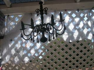 Completed DIY paper chandelier