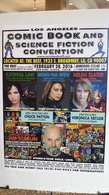Sign advertising the convention and special guests