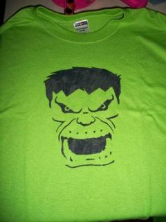 DIY painted Hulk t-shirt
