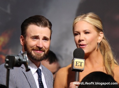 Chris Evans with Nancy O\'Dell