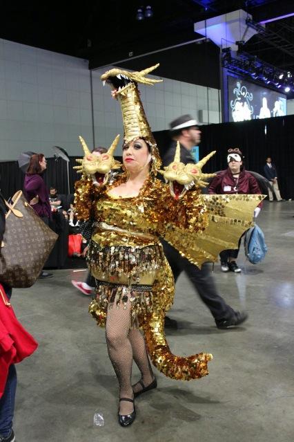 Cosplay: King Ghidorah showgirl