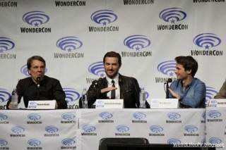 Steve Quale, Richard Armitage and Max Deacon at the Into the Storm panel