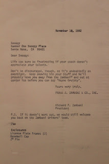 Letter from Richard Zamboni to Snoopy - Charles M. Schulz Museum