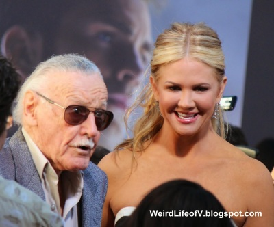 Stan Lee with Nancy O\'Dell from Entertainment Tonight