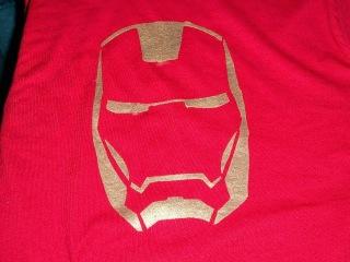 DIY painted Iron Man t-shirt