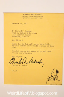 Letter to Richard Zamboni from Charles Schulz - Charles M. Schulz Museum
