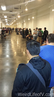 The really long line for Ming-Na Wen and hour before she arrived