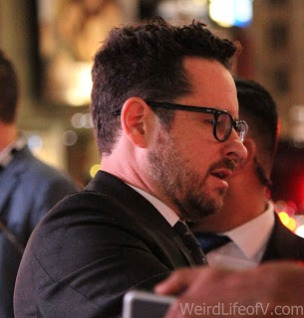 J.J. Abrams signing autographs at the Westworld premiere in Hollywood.