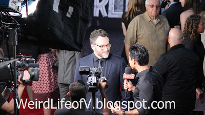 Director Colin Trevorrow being interviewed by Mario Lopez - Jurassic World Premiere