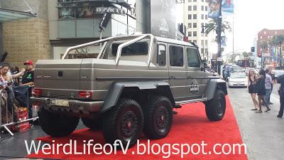 Jurassic World Mercedes truck greeted the guests - Jurassic World Premiere