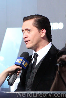 Clifton Collins, Jr. being interviewed on the red carpet at the Westworld premiere in Hollywood.