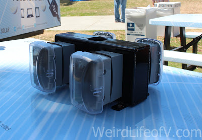 Outlets on picnic tables to charge your devices