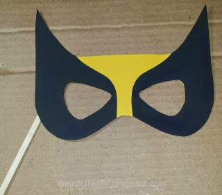 DIY: Wolverine paper masquerade style mask