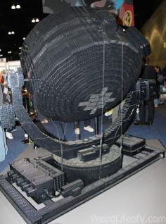 Working full size Batman bat signal made from Legos
