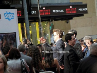 Robert Downey Jr. talking to fans via Skype