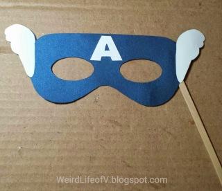 DIY: Captain America paper masquerade style mask