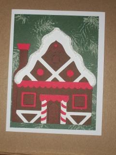 DIY: Gingerbread house Christmas Card