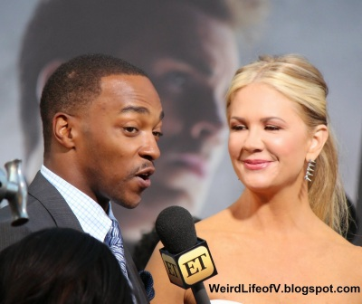 Anthony Mackie with Nancy O\'Dell