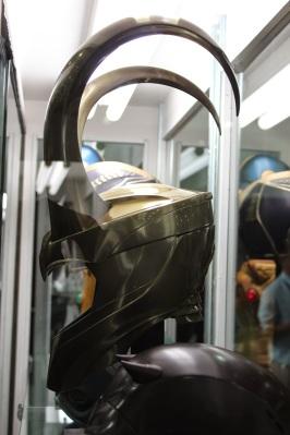 Side view of Loki\'s helmet