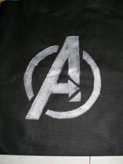 DIY: Marvel Avengers logo tote bag
