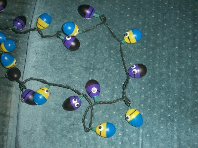 Completed Despicable Me Minion lights