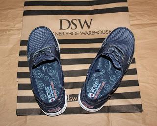 My Skechers Bobs Flexy High Tide shoes in navy blue