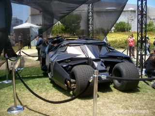 Replica Tumbler Batmobile on display behind the San Diego Convention Center during San Diego Comic Con 2012