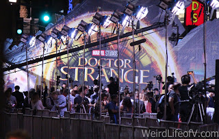 Press in place along the red carpet at the Doctor Strange premiere