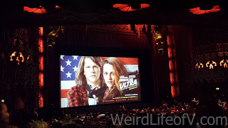 The inside of the historic Theatre at the Ace Hotel during the American Ultra Red Carpet Premiere