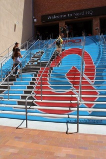 These steps at Petco Park were decorated with the Nerd HQ logo.